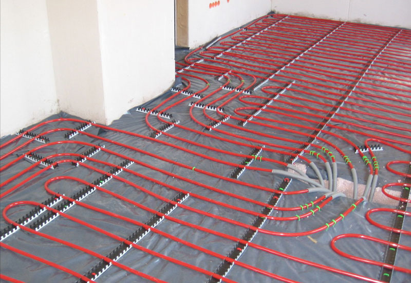 Wet underfloor heating system
